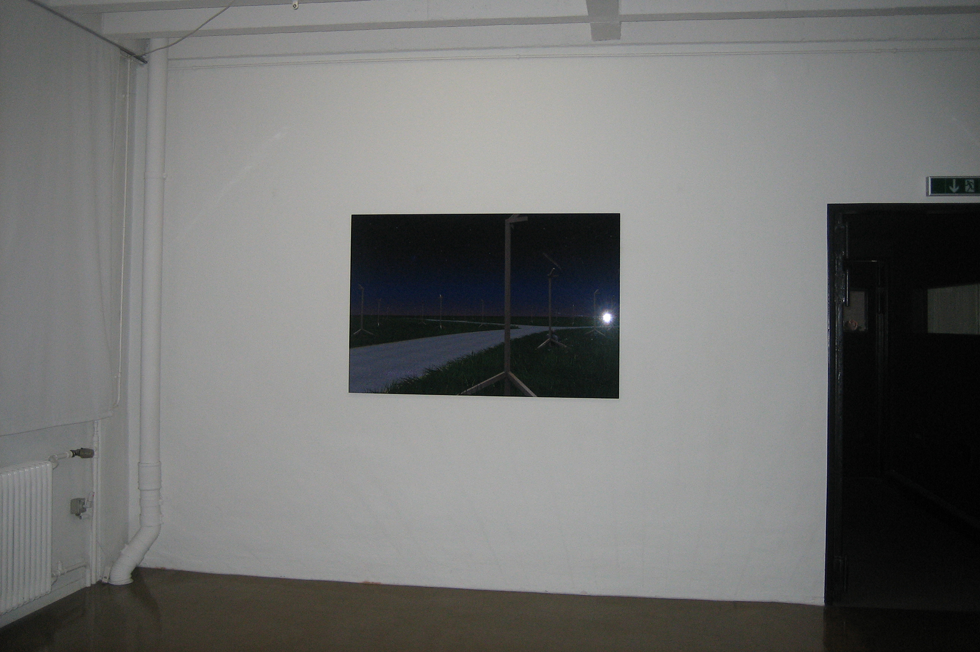 Levittown, photograph, lambda print / black PVC and Plexiglas, 2006, in collaboration with Swann Thommen