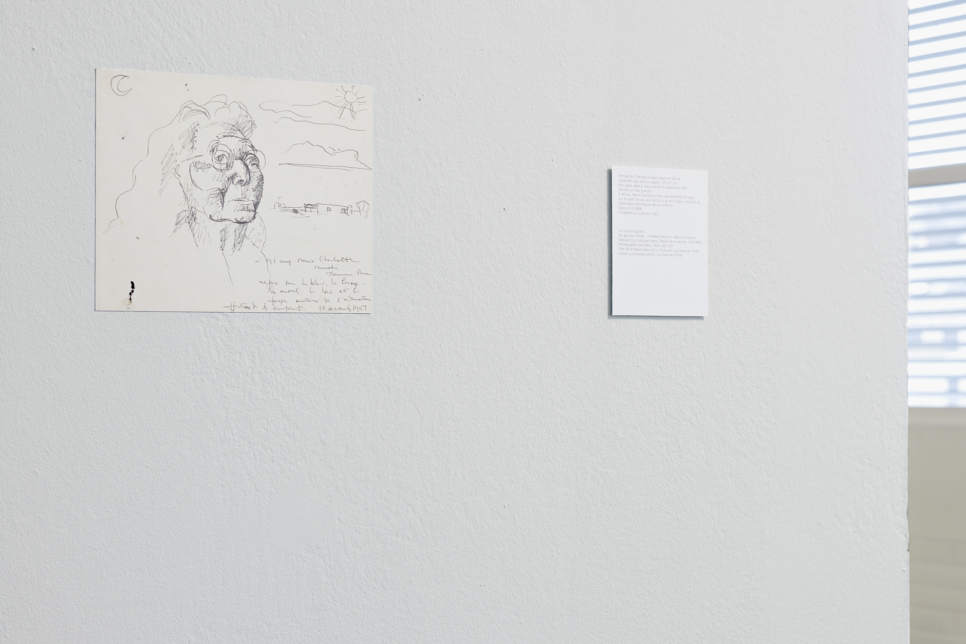 "Hitchcock presents, detail of the video installation, HD, 16/9, 1080p, 6'26"", Le Corbusier drawing, 2010, © David Gagnebin-de bons"