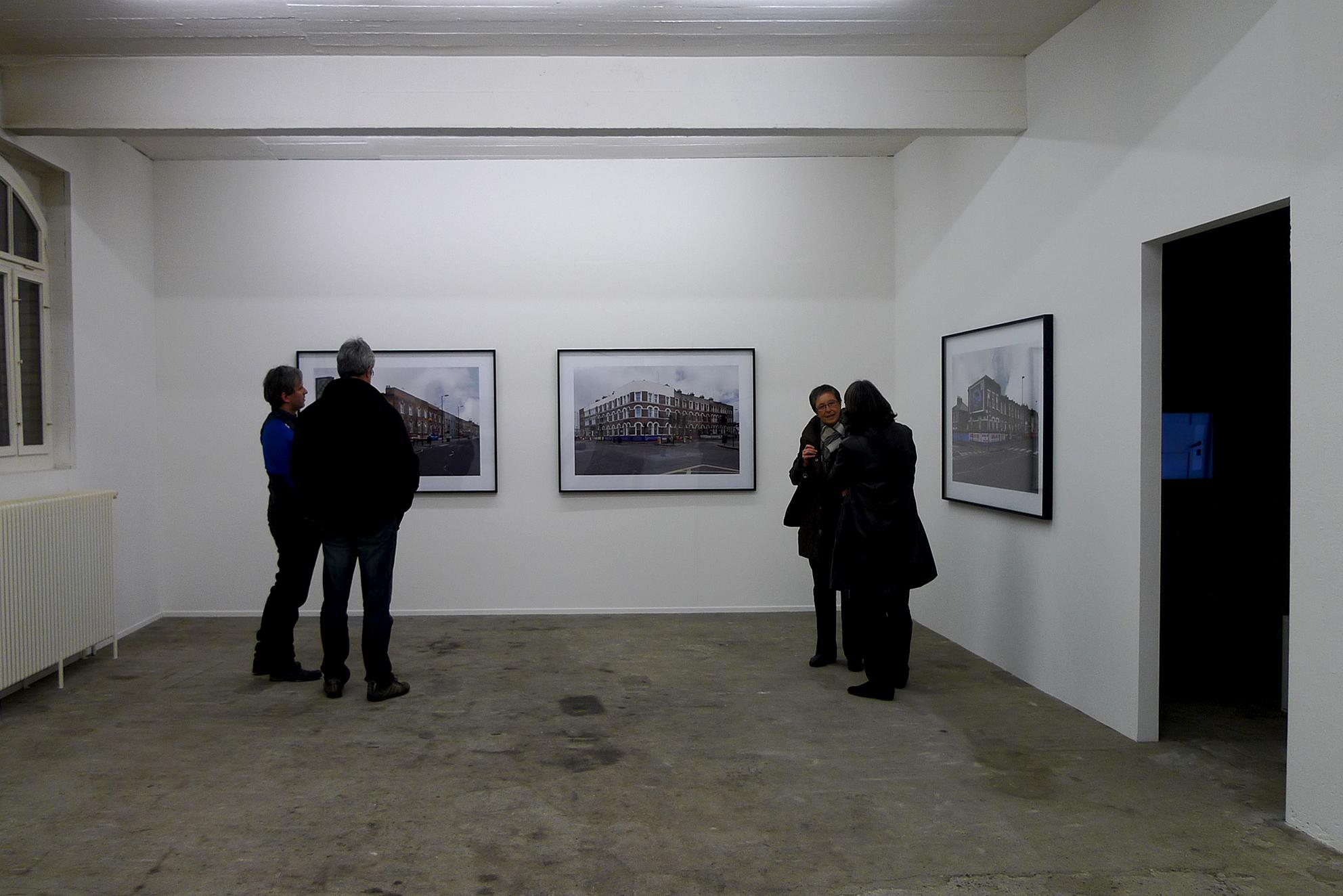 Finsbury, Blackstock Road, London, series of 3 photographs, inkjet print / black wooden frame and glass, 104 x 150 x 4 cm, 2011