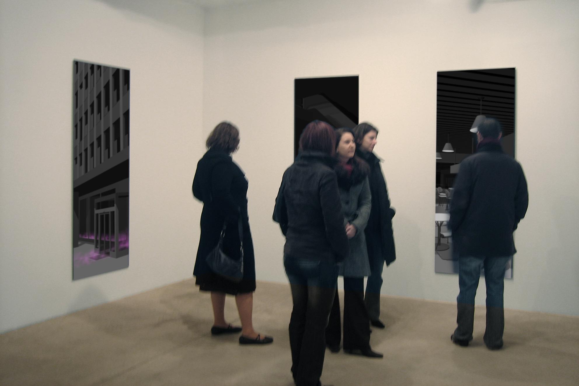 No comment, series of 5 photographs, lambda print / 2 Plexiglas slab 200 x 75 x 1 cm, 2007, in collaboration with Swann Thommen