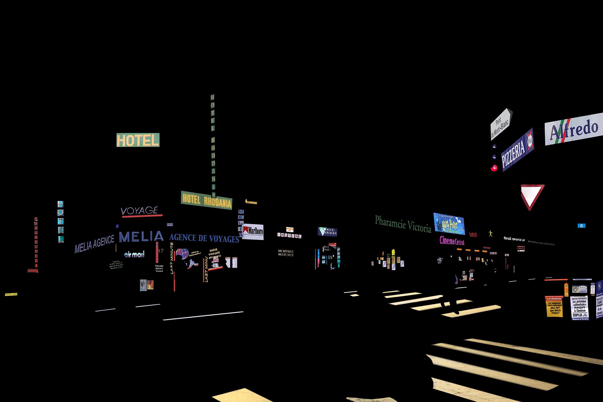 datatown#4, 40 x 60 x 1 cm