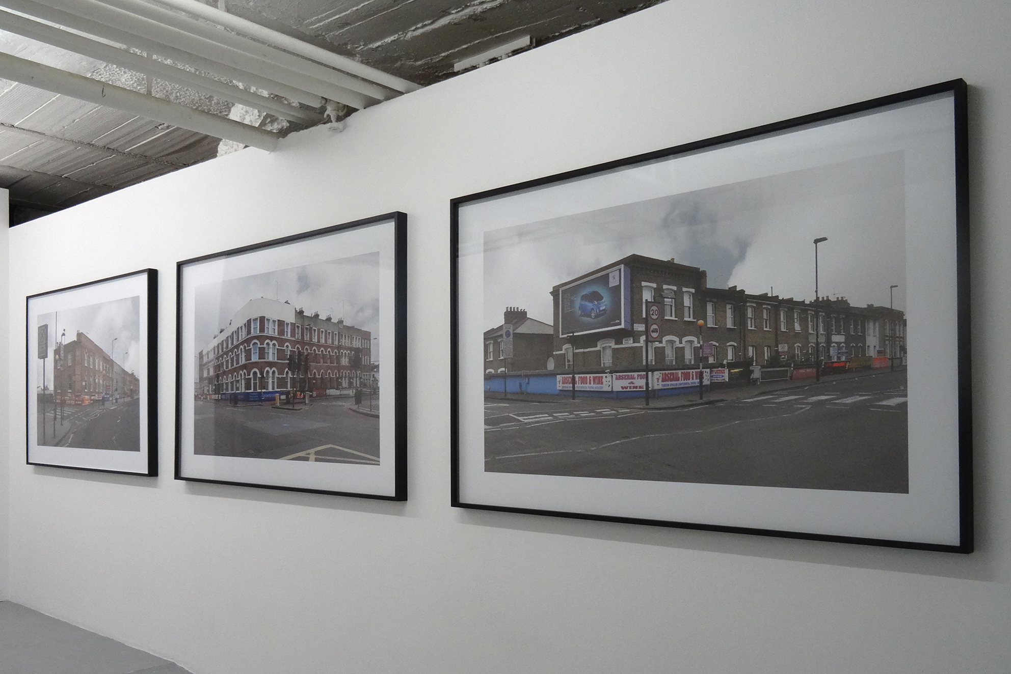 Finsbury, Blackstock Road, London, series of 3 photographs, inkjet print / black wooden frame and glass, 104 x 150 x 4 cm, 2011, © A.Satus