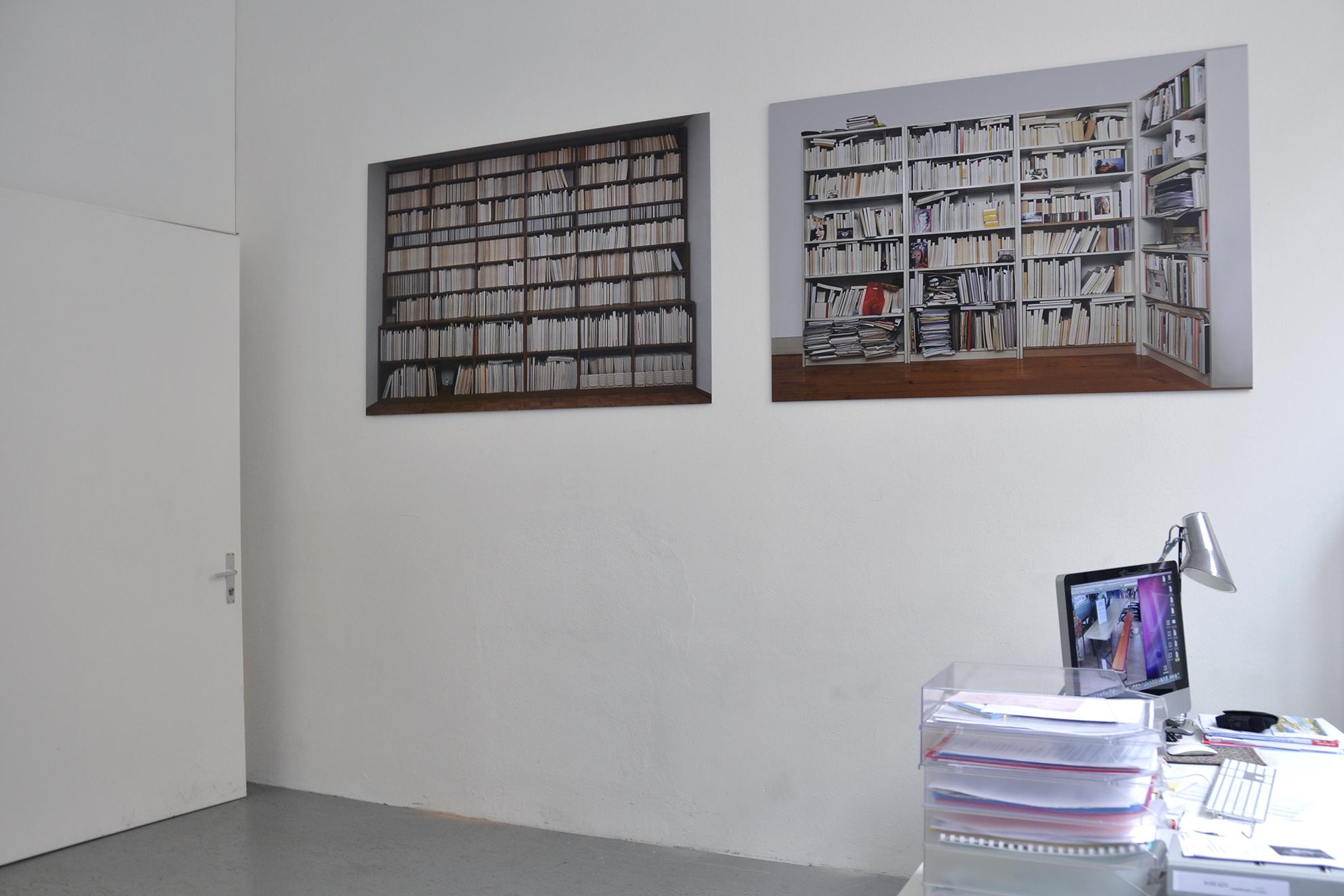 Bookshelf, series of 2 photographs, Inkjet / aluminum printing, 110 x 160 cm, 2010