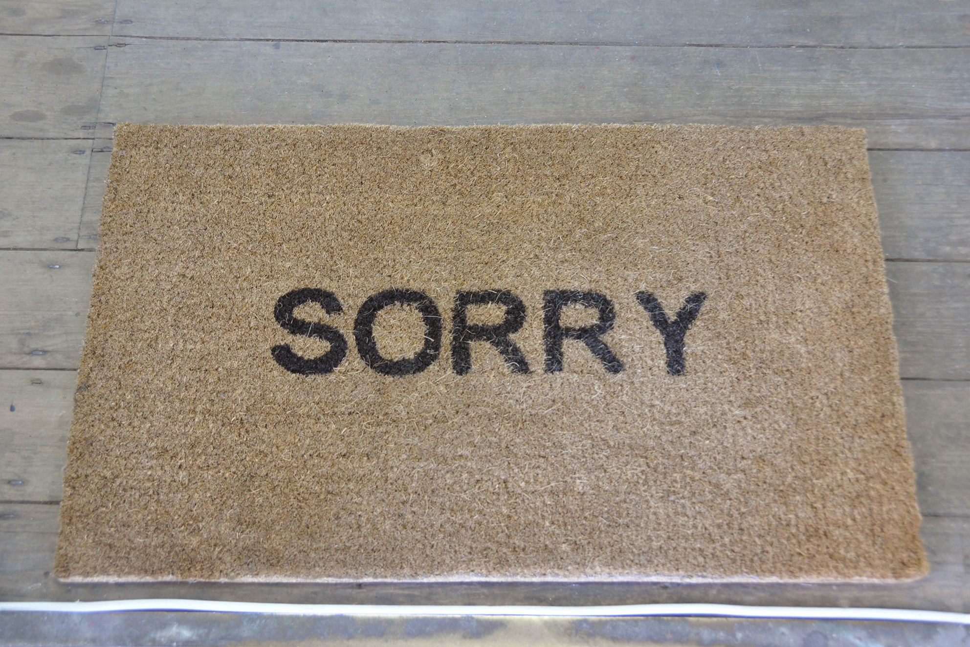 Alan Magee – SORRY Doormat – Coconut fibre – 2015