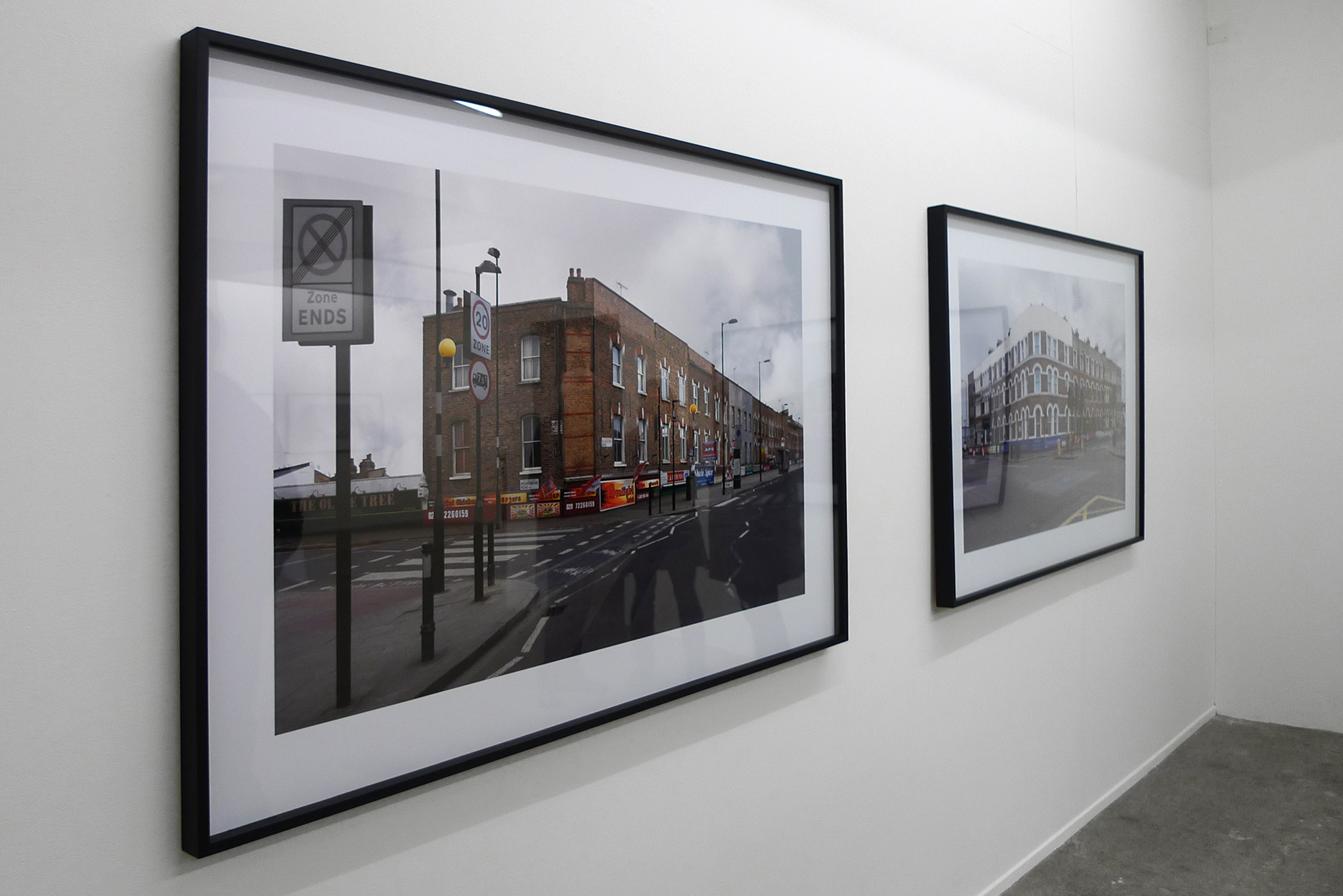Finsbury, Blackstock Road, London, series of 3 photographs, inkjet print / black wooden frame and glass, 104 x 150 x 4 cm, 2011